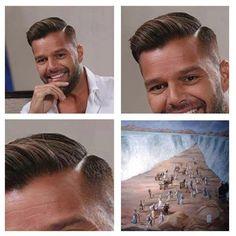El peinado de Ricky Martin.