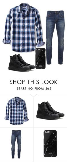 """Untitled #441"" by zeniboo ❤ liked on Polyvore featuring Banana Republic, Converse, Scotch & Soda, Native Union, men's fashion and menswear"
