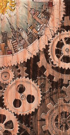 Pencil Drawing Patterns quantacity four by andyvanoverberghe - Steampunk Artwork, Steampunk Drawing, Steampunk Wallpaper, Pencil Drawings, Art Drawings, Mechanical Art, Steampunk Accessories, Steampunk Design, Illustrations And Posters