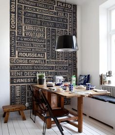 "I ❤ it . . . ""Writers block"" . . . (would love to duplicate this wall)"