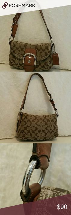 Authentic Coach Soho bag I loved this bag hard! Was main purse at that time, so it is stained on inside flap, inside bottom & outside bottom as shown in photos. Coach Bags Shoulder Bags