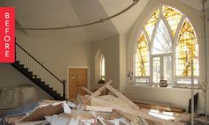 Before & After: A Chicago Church is Transformed into One Lucky Family's Home