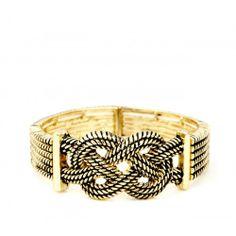 Rope Stretch Bracelet  - Gold