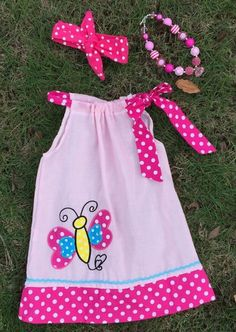 """BUTTERFLY LOVE DRESS SET  Price $24.99, Free Shipping Options: 12M, 2T, 3T, 4T, 5, 6 To purchase, comment """"Sold"""", size & EmaiL INCLUDES EVERYTHING PICTURED*"""