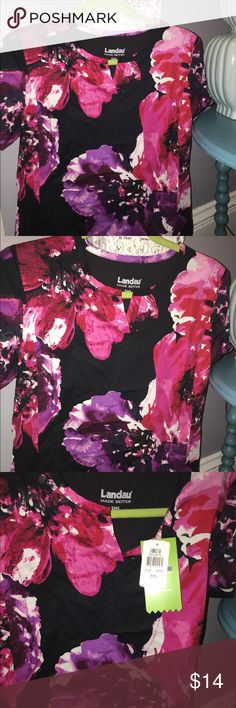 New - Women's Scrub Top - floral print v - cut! Adorable floral scrub top, New with tags! Size small. Landau Other