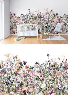 Living room decor ideas wallpaper wall murals ideas for 2019 Wallpaper Flower, Nursery Wallpaper, Modern Wallpaper, Botanical Wallpaper, Designer Wallpaper, Photo Wallpaper, Pastel Wallpaper, Leaves Wallpaper, Plant Wallpaper