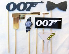 Casino royale photo booth props