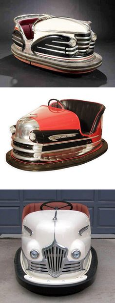 Art Deco Streamliner bumper cars.  I never got to ride bumper cars, and now I'm too tall.  Of all the fek!