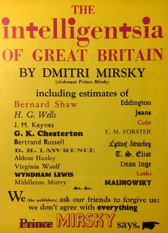 The Intelligentsia of Great Britain, published by Victor Gollanz