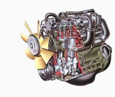 Traditionally, diesel engines have always been seen as noisy, smelly and underpowered engines of little use other than in trucks,. Engine Repair, Car Engine, Car Facts, Automotive Engineering, Detroit Diesel, Small Engine, Car Shop, Diesel Trucks, Diesel Engine