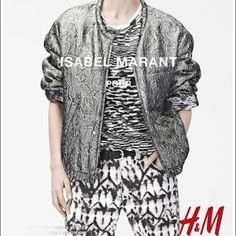 ISABEL MARANT x H&M Double Sided Bomber Jacket Super cozy reversible bomber Jacket by Isabel Marant for H&M. Worn twice and dry cleaned. Very good condition! - I do not own the first 2 pictures Isabel Marant pour H&M Jackets & Coats