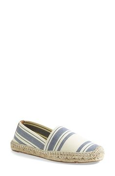 3c4e5611f03 Free shipping and returns on Tory Burch Stripe Espadrille Flat (Women) at  Nordstrom.