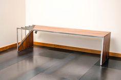 Acciaio inox ciliegio brasiliano Bench di Visual metalli