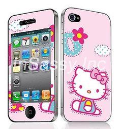 iPhone 4 Cloud Hello Kitty Decal Vinyl Sticker Skin $4.99