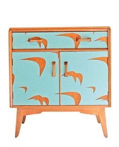 """Upcycling: Lucy Turner furnitureLucy Turner's wooden mid-century furniture is given new life with the help of laser-cut Formica. """"I go for iconic pieces with simple lines,"""" says Turner. """"You can't get new teak furniture any more, but it's beautiful wood. This is one way to own it."""""""