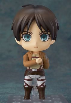 Attack on Titan Figure: Eren Yeagar Nendoroid (4 in) #RightStuf2013
