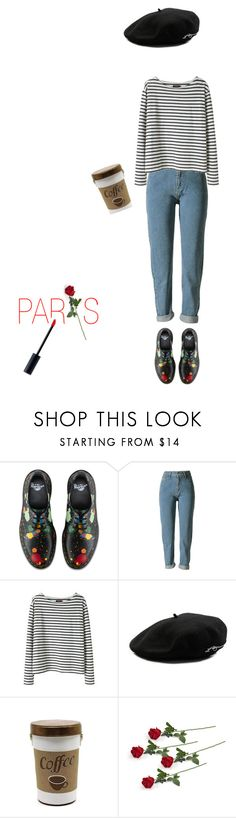 """""""In Paris"""" by anxiousgirl ❤ liked on Polyvore featuring Dr. Martens, Wood Wood, Larose and Christian Dior"""