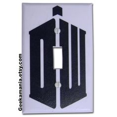 Doctor Who Logo Light Switch Cover. $5.00, via Etsy.