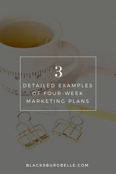 3 Detailed Examples of Four-Week Marketing Plans