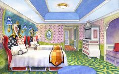 『不思議の国のアリス』スペシャルルーム in 東京ディズニーランドホテル