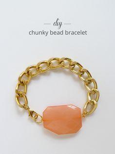 Thanks, I Made It : DIY Chunky Bead Bracelet