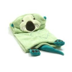 It's an Otter hoodie blankie! Piccolo Bambino Gree Otter Hooded Cuddle Blanket