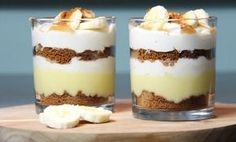 This dessert, inspired by the banoffee pie, is delicious - Dessert - Banoffee Pie, Pineapple Desserts, Köstliche Desserts, Dessert Simple, High Tea, Tapas, Snack Recipes, Brunch, Food And Drink
