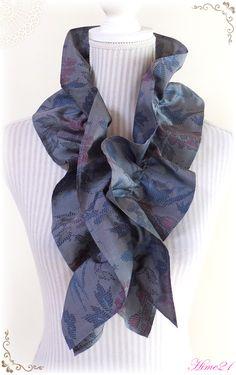 Kimono Fabric, Japanese Kimono, Neck Scarves, Silk Ties, Sewing, Handmade, Clothes, Asian, Nice