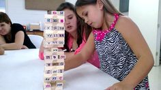 Essentials Jenga. Classical Conversations Essentials students enjoy playing Jenga to learn math and grammar facts!