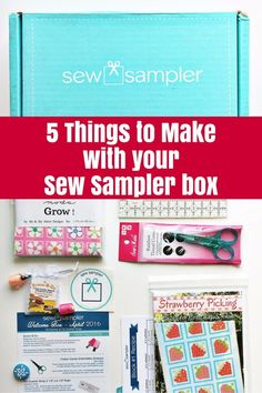 5 Things to Make with your Sew Sampler Box - The Crafty Mummy