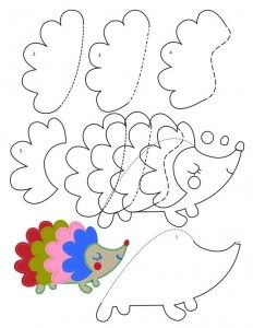 hedgehog craft with template
