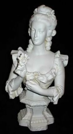 Marie...my bust by Sevres'....visited the manufactory on the outskirts of Paris in 2000 on one of my many trips to Paris & purchased & was logged into the books!