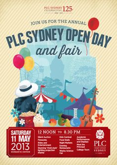 PLC Sydney Open Day and Fair poster