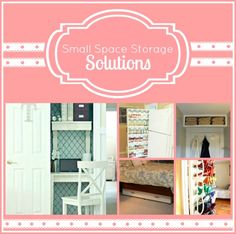 Small space storage solutions-- great tips for apartment living!