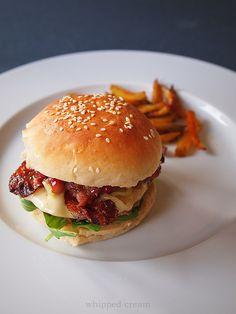 Homemade rancho burger