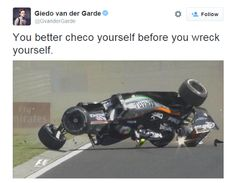 Perez goes upside down, FP1