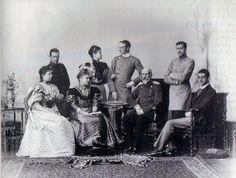 The family of Duke and Duchess Philipp of Württemberg, from left: Duchess Margarethe Sophie, her husband Duke Albrecht, Duchess Marie-Thérèse, Princess Isabelle, her husband Prince Johann Georg of Saxony, Duke Philipp, Duke Robert and Duke Ulrich.