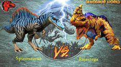 Spinosaurus VS Rajastega   Jurassic World The Game [1080P]