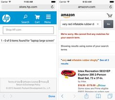 """Blank """"No results"""" Page Avoid giving users dead-ends in their experience when their search produces no matching results. Provide options, e.g. online shop can suggest alternative products from the similar category. To assist the user further you could employ an 'intelligent search' feature that covers singular, plurals and misspellings, etc."""