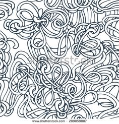 Doodle seamless pattern. Can be used for coloring book design, for fabric textile printing design, for roll wallpapers