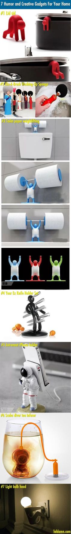 household appliances creative designs, kitchen and bathroom gadgets funny