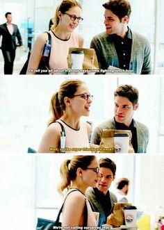 Kara channeling her inner Oliver Queen. Kara Danvers #supergirl #dc #karadanvers kara zor-el