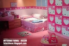 kitty cat theme for girls room, kids room themes decorating ideas