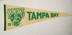 Vintage Authentic Tampa Bay ROWDIES Pennant, NASL 29