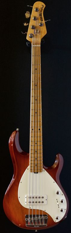 1985 Ernie Ball Musicman Stingray 5 H Honeyburst 5 string bass