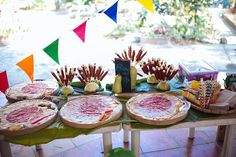 """""""No time to siesta, it's time to fiesta! And it sure looked like a fun fiesta filled with old-school party elements like pr… Fiesta Theme Party, Birthday Party Themes, Filipiniana Wedding Theme, Fiesta Decorations, Diy Party, Party Ideas, Pinoy, Christmas Themes, Birthdays"""