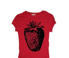 strawberry shirts cheap custom t shirt strawberry by wastedhairday, $16.00