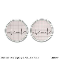 EKG heartbeat on graph paper PhD (doctor) pulse Cufflinks - Doctor Gift Idea Hospital Health, Designer Cufflinks, Medical Gifts, Doctor Gifts, Silver Bullet, Graph Paper, Stylish Men, In A Heartbeat, Just For You