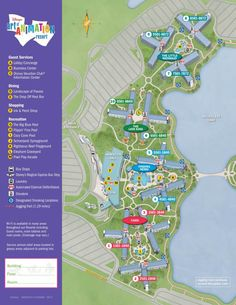 Art of Animation Resort Map