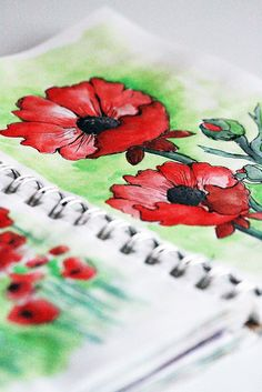 Alisa Burke's sketchbook - love the watercolours
